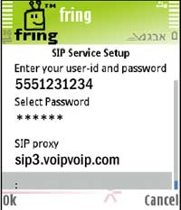 Fring other SIP setup